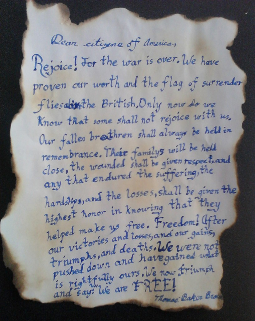 Colonial Letter