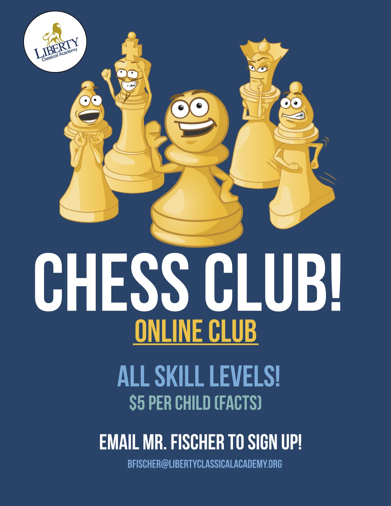 2020 Chess Club Online Flyer